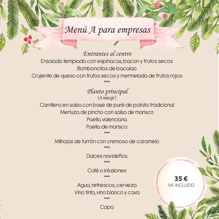 30 restaurantes con menú de Navidad en Valencia 19