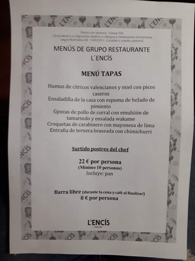 30 restaurantes con menú de Navidad en Valencia 6