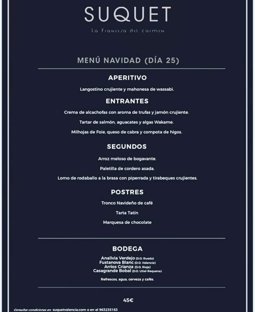 30 restaurantes con menú de Navidad en Valencia 45